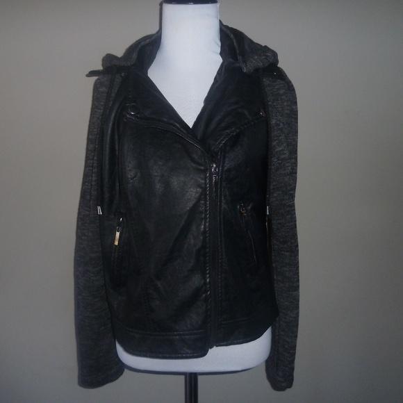 e2 Jackets & Blazers - E2 Clothing Girls JAcket Blazer Style Leather/Cott